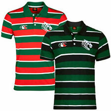 Canterbury Leicester Tigers Lifestyle Wide Stripe Polo Shirt Size: Small-3XL