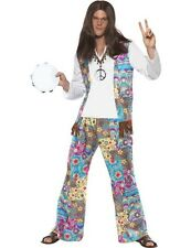 Mens 60s 70s 1960s Groovy Hippie Hippy Festival Fancy Dress Costume