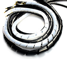 Spiral Wrap Cable Binding Tidy Leads on TV / PC / Home Cinema / CCTV Wires Hide
