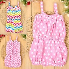 Infant/Toddler Girls cute 1-3Y Sleeveless strap Bowknot Siamese trousers Dresses