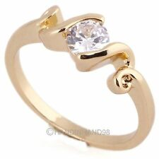 New Fashion Wedding Twisted 14K White Gold Plated/Gold Plated Ring US 5.25-9