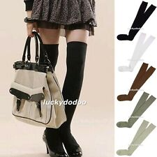 Lot Women Lady Girl Soft Over Knee Stockings Dancing Thigh High Cotton Socks