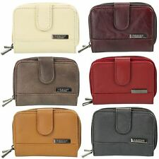 Ladies Leather Lorenz Twin Zip Purse/ Wallet Zip Around Photo Space - Colours
