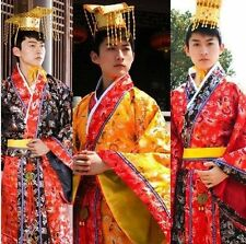 Chinese Han Clothing Emperor Prince Show Cosplay Suit Robe Costume One Size*
