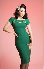 Gorgeous Bettie Page Green Sierra 1940's Reproduction Dress NWT