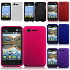 For LG Optimus Zone 2 VS415PP Fuel L34C Rubberized Hard Case Snap On Phone Cover