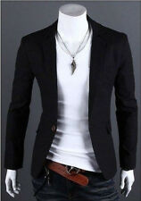Fashion Mens Slim Fit Stylish Casual One Button Suit Coat Jacket Blazers $$$$$