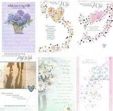 GREAT QUALITY TO MY WIFE HAPPY WEDDING ANNIVERSARY GREETINGS CARD CARDS