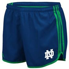 Notre Dame Fighting Irish ADIDAS Woven Running Shorts (Navy Blue) Women's