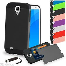 SHOCK PROOF CARD Slot CASE COVER FOR Samsung Galaxy S4 i9500  SCREEN PROTECTOR