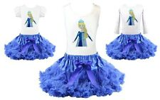 Frozen Elsa Princess Birthday Girl Tutu Pettiskirt Outfit Pageant Party NWT 1-10