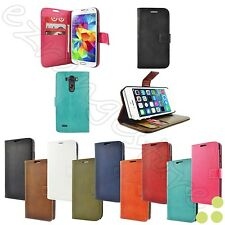 caseen Luxury Leather Card Cash Wallet Flip Stand Case Cover for Smartphone