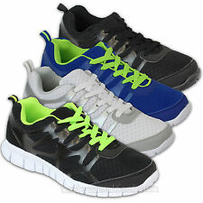 Men Trainers Shoes Jogging Walking Lace Up Sports Running Gym Mesh Lightweight