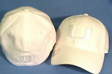 UNIVERSITY OF MIAMI HURRICANES U LOGO WHITEOUT FLEX FIT CAP BY TOP OF THE WORLD