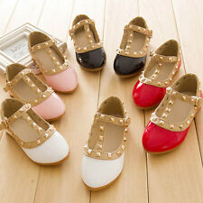 Kids Toddlers Girls Sneakers Comfort Flats Casual Dress Up Dance Leather Shoes