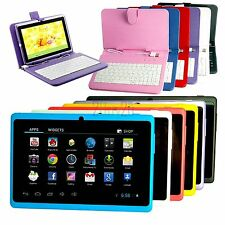 "7"" Android 4.2 Tablet PC MID A33 Quad Core 16GB Capacitive Screen Keyboard Case"