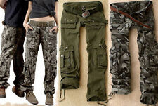 Girl Military  argo Pocket Pants Leisure  Army Fashion Green Outdoor Trousers