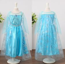 New Frozen Princess Elsa Queen Disney Girls Costume Holiday Dress Sz 3 4 5 6 7 8