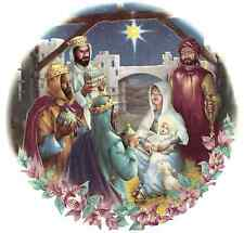 Christmas Nativity Scene Select-A-Size Ceramic Waterslide Decals Bx