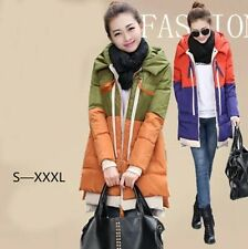 winter 2014 new female mixed colors casual thick cotton frock coat Down jacket