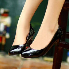 2014 Womens Fashion Pointed Toe Block High Heel Pumps Wedding Work Office Shoes