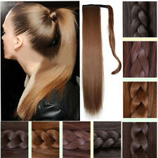 Invisible Wrap Around clip in ponytail hair extensions pony tail hair Piece hst