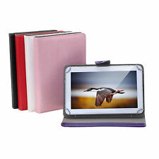 "Universal 10 Inch Folio Smart Stand Case Cover for 10.1"" Tablet Phablet 5 Colors"