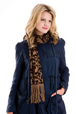 RJM Ladies Knitted Leopard Scarf with Lurex