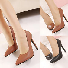 Womens Pointy Toe High Heels Classic Pumps Stilettos Cocktail Office Smart Shoes