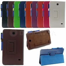 Colored Folding Stand Cover Case Skin For Samsung Galaxy Tab 4 T330 8.0""