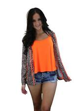 New Womens Brave Soul Leopard Print Neon Hooded Mac With Shower Proof Coating