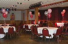 40th Birthday Balloons - 10 Table Decorations - Many Colours - DIY Kit