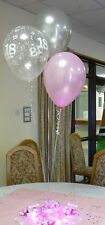 18th Birthday Balloons - 10 Table Decorations - Many Colours - DIY Kit
