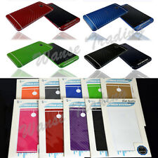 For HTC One M7 Textured Skin Carbon Full Body Wrap Cover Sticker Decal Protector
