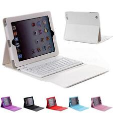 For New Apple iPad 4 3 2 Stand Leather Case Cover With Bluetooth Keyboard HYDG