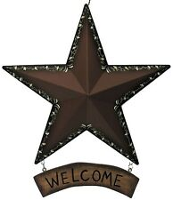 Metal BARN STAR WELCOME Rustic Primitive Country Vintage BRN Sign Multi-color