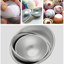 3 Sizes 3D Aluminum Sphere Bath Bomb Cake Pan Tin Baking Pastry Ball Mould Mold