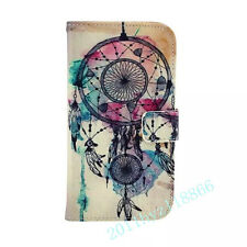Hot Sale Dream Catcher Card Slot Wallet Flip PU Leather Stand Case Cover F Phone