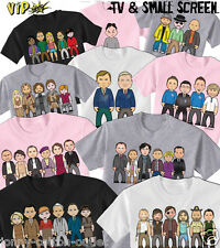 VIPwees Childrens T-Shirt TV & Small Screen Inspired Caricatures Choose Design