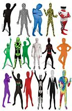 Kids Childrens Morphsuit Fancy Dress Outfit Costume Morph Suit Halloween NEW