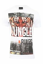 Mens Voi Crew Neck T Shirt Tiger Tee Large Chest Graphic Short Sleeve