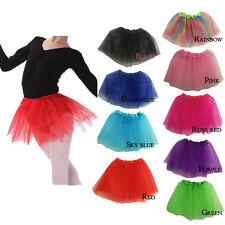 Colors Girls Kids Tutu Party Ballet Dance Wear Dress Skirt Pettiskirt Costume
