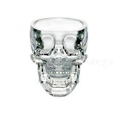 Crystal Skull Head Human Skeleton Death Vodka Whiskey Glass Cup Bar Ware CSUG