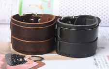 New Styles Fashion Jewelry Charm Bangles Adjustable Cuff Leather Bracelet HOT