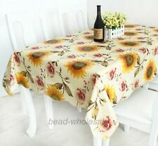 #1European Style PVC Waterproof Oilproof Dinner Table Tea Table Cloth Tablecloth