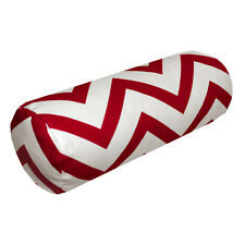 le02g Red Off White Zig Zag Cotton Canvas Yoga Case Bolster Cushion Cover Size