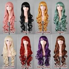 """32"""" 80cm Heat Resistant Spiral Curly Cosplay Wig 7 Colors"""