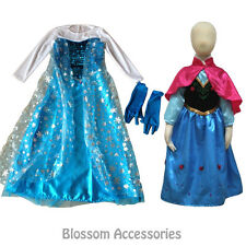 CFR2 Deluxe Frozen Princess Anna Elsa Queen Dress Child Girls Book Week Costume