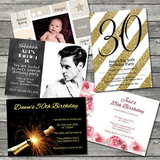 Personalised A6 Invitation 350gsm, Templates, Party, Birthday, Wedding