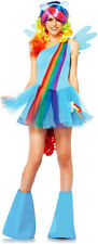 Women's My Little Pony Rainbow Dash Blue Outfit Dress Adult Halloween Costume